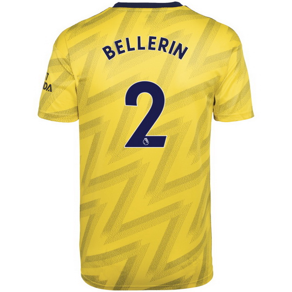 Maillot Foot Arsenal NO.2 Bellerin 2ª 2019-2020 Jaune